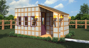 HomeAid Houston playhouse rendering