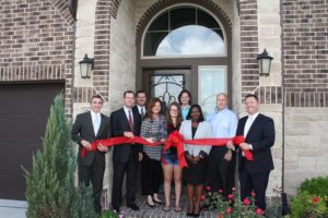 Benefit Homes ribbon cutting Perry Homes and Bridgeland