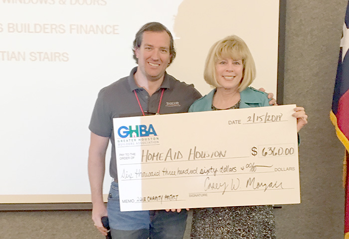 GHBA Custom Builders Council donates to HomeAid Care projects