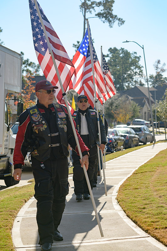 Operation FINALLY HOME dedication in The Groves, Marine Corporal Byrnes family