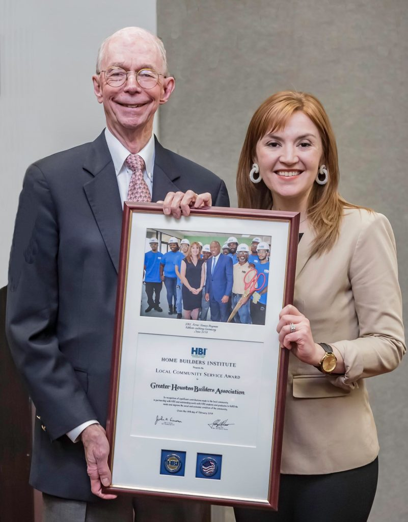 GHBA wins local community service award from Home Builders Institute HBI