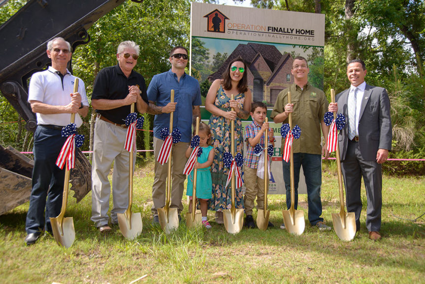 Operation Finally Home groundbreaking in The Groves, Humble TX