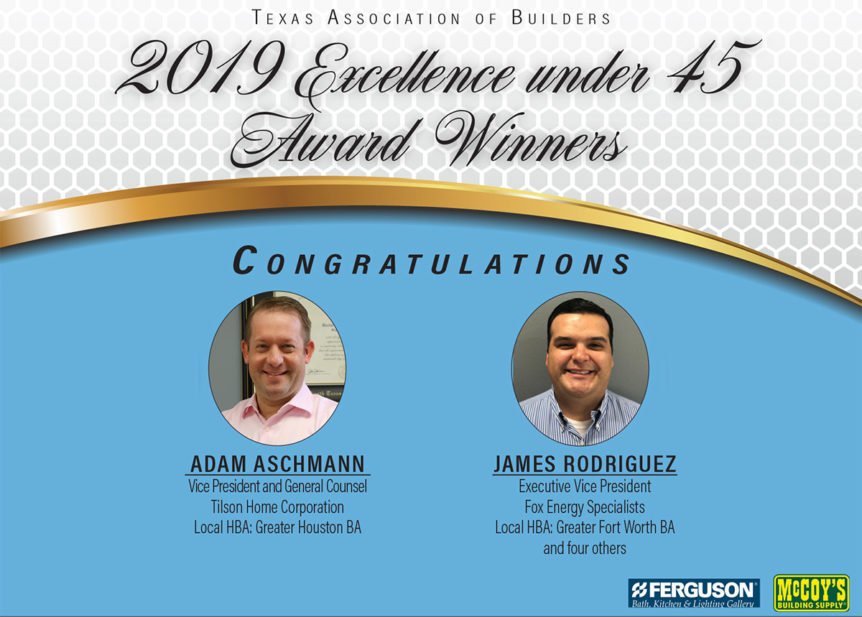 TAB Excellence Under 45 winners 2019, Adam Aschmann and James Rodriguez