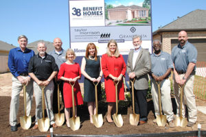 2018 GHBA Benefit Homes groundbreaking, Taylor Morrison in Grand Vista