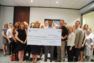 Westin Homes GHBA Benefit Homes check presentation to charities