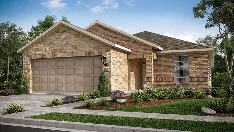 Taylor Morrison's 2018 Benefit Home front elevation