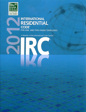 2012 IRC code book cover