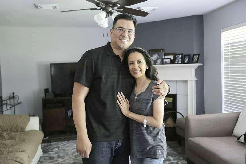 The Lee family return to their renovated home after Hurricane Harvey flooding.