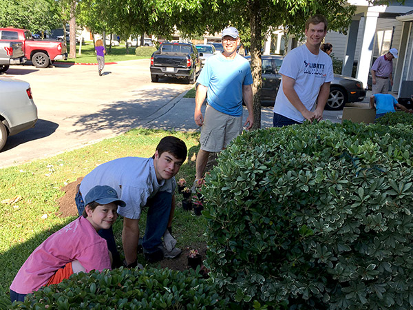Butler family at Custom Builders charity work day at Casa de Esperanza