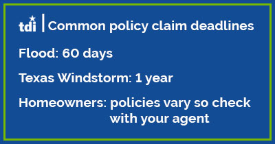 flood insurance claim deadlines