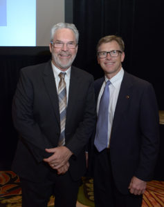 Dr Mark Dotzour and Bo Butler, GHBA president