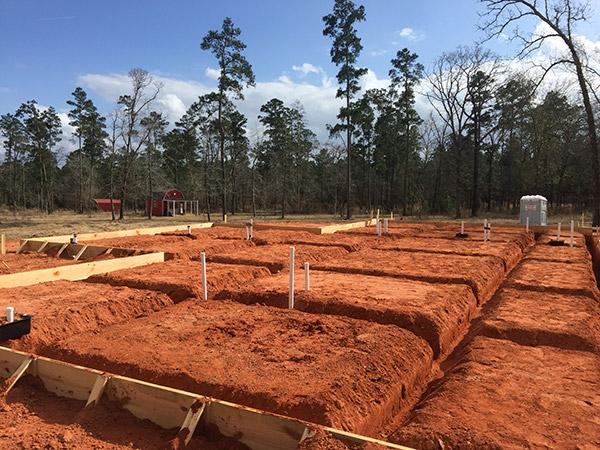 Foundation building pad preparation