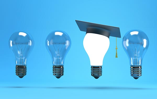 graduates light bulb illustration