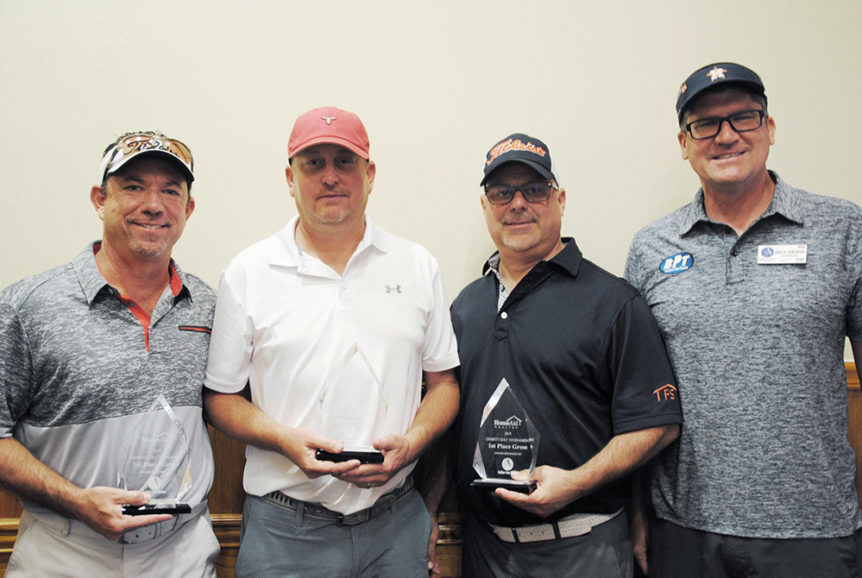 HomeAid Houston charity golf tournament 2019 first place gross winners