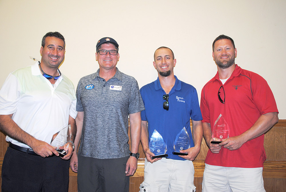 HomeAid Houston charity golf tournament 2019 first place NET winners