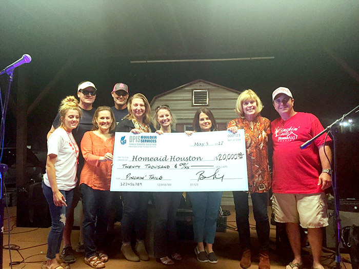 DPIS donates $20,000 to HomeAid Houston after Pinchin Tails crawfish boil fundraiser.