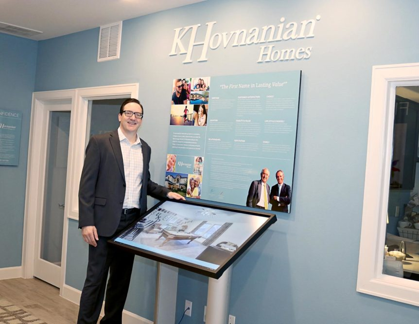The interactive Sales Center Presentation allows customers to visualize themselves in a new home, uniquely theirs. Diverse home designs are a trademark of K.Hovnanian communities
