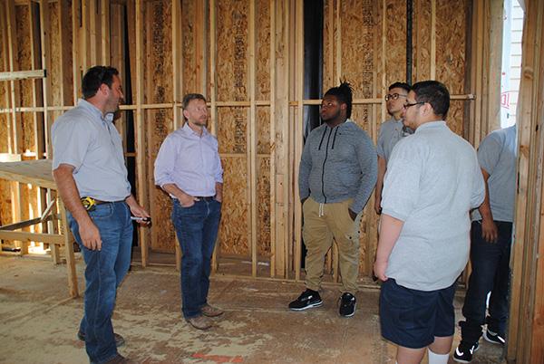 Jones Academy tours Butler Brothers Construction
