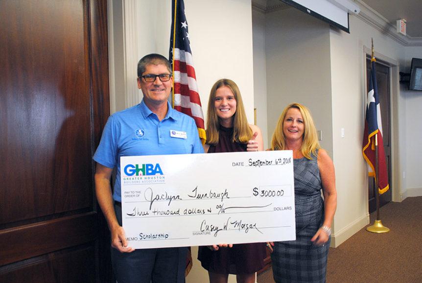 GHBA scholarship presentation 2018
