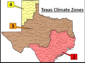 texas climate zones