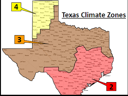 Texas Climate Zone Map texas climate zones | GHBA