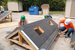 Warren Construction Careers Academy students build tiny House