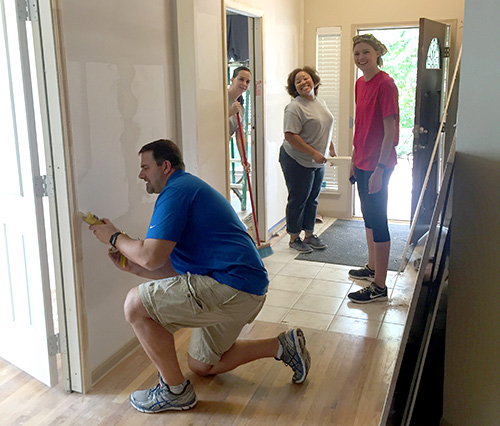 David Weekley HomeAid remodel at Casa de Esperanza